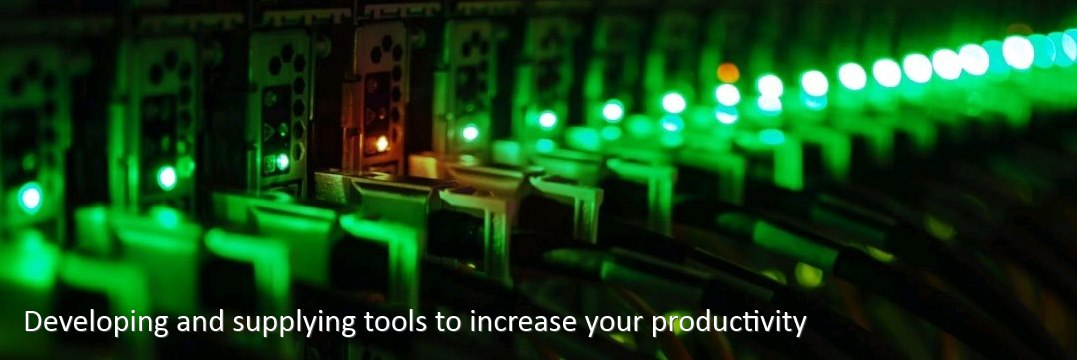 Developing and supplying tools to increase your productivity